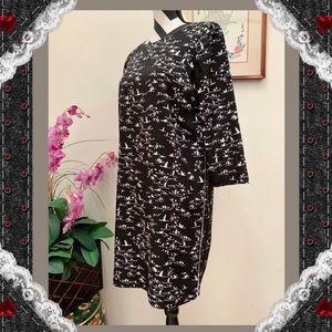 The Limit Black & White Birdie Print Shift Dress